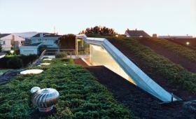 plan de toiture verte